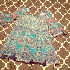 As you wish size large mint paisley dress